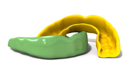 Зеленый цвет предохранителя камеди и фронт золота Стоковые Фото