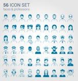 Регулярн комплект значка людей и профессий иллюстрация вектора
