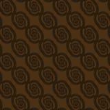Регулярн спирали и многоточия делают по образцу темный коричневый цвет раскосно иллюстрация вектора