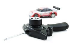 Регулятор автомобиля игрушки RC и автомобиль игрушки Стоковая Фотография