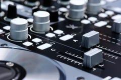 Регулятор смесителя DJ Стоковые Фото