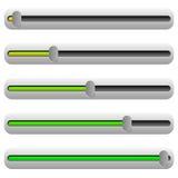 Регулятор, слайдер с желтым и зеленым цветом Элемент UI бесплатная иллюстрация
