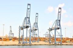 Редакционное промышленное здание в порте Стоковое Изображение