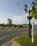 Редакционное Montauk, зеленый цвет деревни Нью-Йорка Стоковые Фото