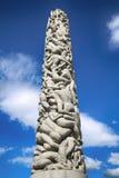 РЕДАКЦИОННЫЙ ОСЛО, НОРВЕГИЯ - 18-ОЕ АВГУСТА 2016: Скульптуры на Vigeland стоковое фото