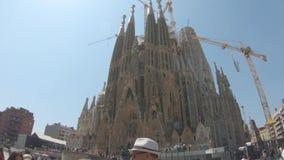 редакционо Май 2018 Базилика Sagrada FamÃlia, Барселоны, Испании видеоматериал