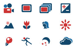 Режимы значков силуэта фото Стоковое Изображение