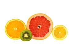 Резать половину плодоовощ Стоковые Изображения