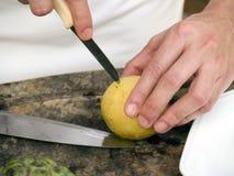 резать экзотический плодоовощ Стоковая Фотография RF