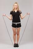 Резвит девушка держа веревочку Стоковое Фото
