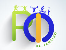 Резвит концепция с текстом Рио-де-Жанейро Стоковое фото RF