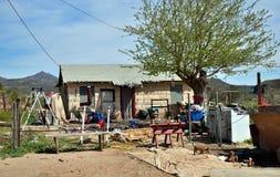 Резервирование Аризоны, San Carlos апаша: Дом семьи апаша стоковое фото