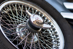 резервное колесо oldtimer Стоковая Фотография