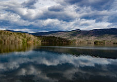 Резервуар бухты Carvins, Roanoke, Вирджиния, США стоковые фотографии rf