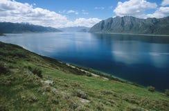 Резервуар воды в ландшафте горы Стоковые Фото
