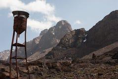Резервуар воды в горах атласа Стоковые Фото