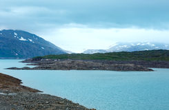 Резервуар воды Storglomvatnet (Meloy, Norge) Стоковое Изображение RF