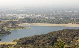 Резервуар в горах Лос-Анджелеса Стоковое Изображение RF