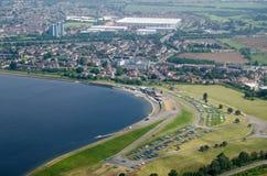 Резервуар вдовствующей королевы, вид с воздуха Стоковые Фотографии RF