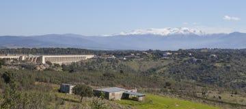Резервуар Габриэля y Galan, Caceres, Испания Стоковая Фотография