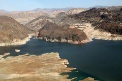 Резервуар мёда озера с засухой видимой в Неваде и Аризоне Стоковые Фотографии RF