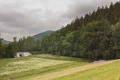 Резервуар на реке Kaczawa Стоковые Изображения