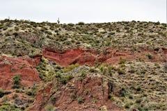 Резервуар озера Bartlett, Maricopa County, положение взгляд ландшафта Аризоны, Соединенных Штатов сценарный Стоковое фото RF