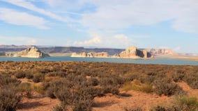 Резервуар Пауэлл озера между Ютой и Аризоной сток-видео