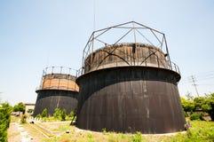 Резервуар для газа блюда стоковое фото rf