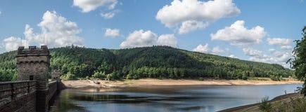 Резервуар Derwent в верхней долине Derwent стоковые изображения rf