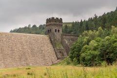 Резервуар Derwent в верхней долине Derwent Стоковое Изображение