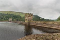 Резервуар Derwent в верхней долине Derwent Стоковое Фото