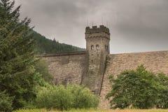 Резервуар Derwent в верхней долине Derwent Стоковые Фото