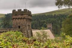 Резервуар Derwent в верхней долине Derwent Стоковая Фотография RF