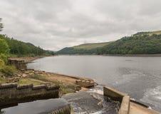 Резервуар Derwent в верхней долине Derwent Стоковое Изображение RF