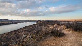 Резервуар Horsetooth, Fort Collins, Колорадо на сумраке стоковые фото