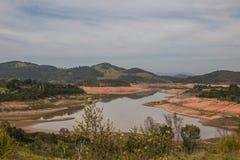 Резервуар Jaguari - система Cantareira - Vargem/SP  Стоковые Изображения