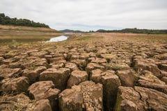 Резервуар Jaguari - система Cantareira - Vargem/SP  Стоковая Фотография RF