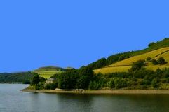 резервуар ladybower Англии стоковое фото rf