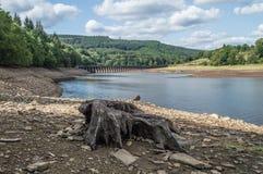 Резервуар Ladybower в верхней долине Derwent стоковые изображения