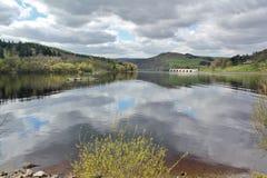 Резервуар Ladybower, долина надежды Стоковые Фотографии RF