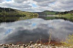Резервуар Ladybower, долина надежды Стоковая Фотография RF