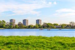 Резервуар Newington запаса западный, Hackney, Лондон Стоковое фото RF