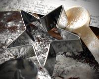 Резец печенья звезды с рецептом стоковые изображения