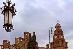Резиденция Bukovinian и далматинские столичные жителя, теперь часть университета Chernivtsi Стоковая Фотография