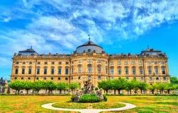 Резиденция Wurzburg, дворец в Баварии, Германии стоковые изображения