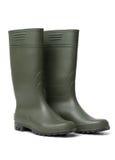 резина ботинок зеленая Стоковые Изображения RF