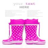 резина ботинок розовая Стоковое Изображение