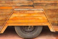 Резина от деревянного автомобиля Стоковая Фотография