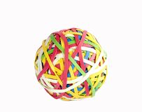 резина полосы шарика стоковое фото